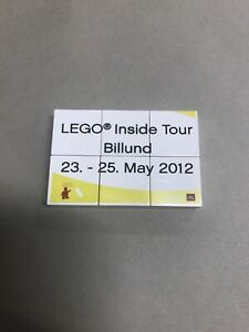 LEGO INSIDE TOUR Billund 23-25 May 2012 Printed Tile Plate Parts VERY RARE