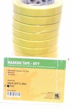 "Indasa 556740   3/4"" Yellow Masking Tape   12 Rolls    Premium Automotive Tape"