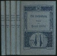 Peter Hille: Gesammelte Werke (1904-05). Erstausgabe. 4 Bände (komplett).