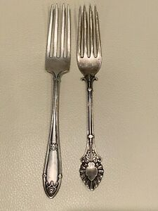 Antique R. Wallace & Sons RM&S and J. Gray Sterling Forks