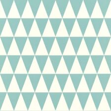 Rasch Textil Tapete 128844 Triángulo Triángulos Gráfico Verde Papel Pintado