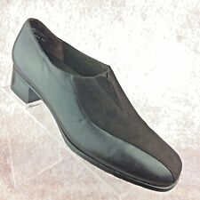 Munro American 'Solano' Brown suede leather block heel loafers shoes Womens 9M