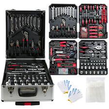 AREBOS 1200-tlg Alu Werkzeugkoffer Werkzeugset Werkzeugkiste Werkzeugbox Trolly