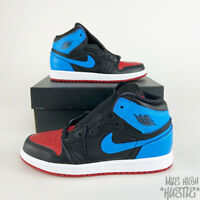 Nike Air Jordan 1 High OG Retro Toddlers Size 2Y UNC to CHI Blue Black Red White