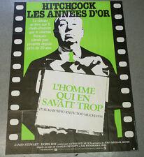 Affiche de cinéma : L'HOMME QUI EN SAVAIT TROP de Alfred HITCHCOCK