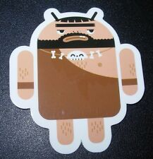 "ANDROID DROID Caveman bot robot logo Sticker 2.5"" Google andrew bell"