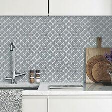 Self Adhesive Wall Tiles Peel And Stick Backsplash Kitchen Bathroom Gray Grey
