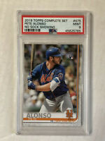 PETE ALONSO 2019 Topps Complete NO SOCK SHOWING SP RC! PSA MINT 9! #475! INVEST!