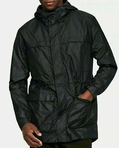 Under Armour UA SportStyle Elite Men's Hooded Parka Jacket Black Size 2XL XXL