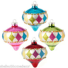 Glass Kismet candy color Christmas Ornaments w sprinkles S4 sp 3416367 NEW RAZ