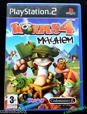 WORMS 4 MAYHEM jeu video pour console SONY PlayStation 2 PS2 testé & complet tbe