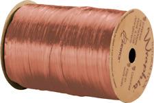 "263-2-63 Pearlized Terra Cotta Wraphia Ribbon 1/4"" x 100 Yards"