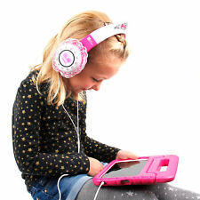 Children's 'Princess' Headphones in Pink & Purple for Lenovo Tab 2 A10-30 Tablet