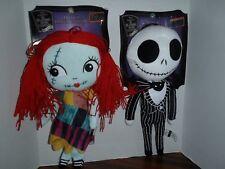 "Nightmare Before Christmas Jack Sally Hanging Plush Doll Decor 18"" 25 Years New"