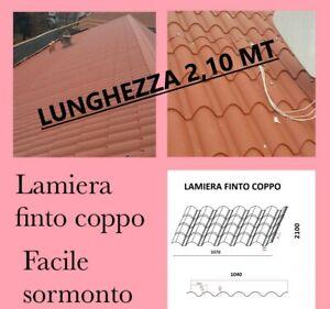 LAMIERA ONDULATA FINTO COPPO COPERTURA TETTO LUNGA 2,10 Mt Sp 0,5