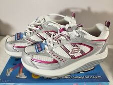 Skechers Womens Shape Ups 11814 Silver Pink Walking Sneakers Shoes With Box 6.5