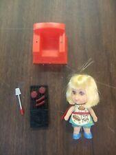 Vintage 1967 Mattel Liddle Kiddles Sizzly Friddle Doll, Grill