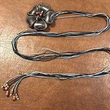 Vintage 1970's leather Flower Cord Belt!