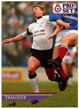 Marco GABBIADINI Derby County #455 Pro Set FOOTBALL 1991-2 TRADE card (C364)