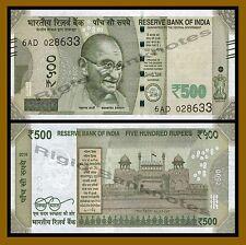 India 500 Rupees, 2017 P-New New Design Gandhi Unc