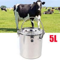 5L Electric Cow Milking Machine Vacuum Pump Cow Milker + Milker Tube+ Brush