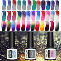 58Colors LEMOOC Thermal UV Gel Polish Glitter Color-changing Gel Nail Polish 8ml