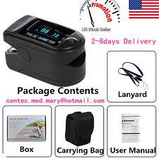 USA!!! Finger Tip Pulse Oximeter Blood Oxygen SpO2 PR Monitor OLED CMS50D SALE