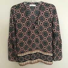 Abercrombie and Fitch Women's Size XS Boho Bell Peasant Sleeve Blouse Top Black