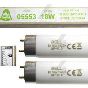 18w T8 BELL Fluorescent Tube 2ft 600mm Daylight for Battens Ceiling Lights x 2