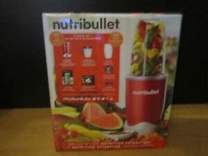 NutriBullet Jar Blender 24 oz. Single Speed 600-Watt Motor Red 8-Piece Set