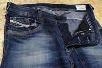 Mens Diesel TIMMEN Straight Washed Blue Denim Jeans W31 L32