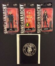 3 SONS OF ANARCHY Action Figures Comic Book HC Graphic Novel JAX Clay GEMMA NEW