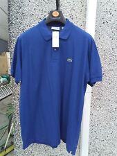 Mens Lacoste polo shirt Size 6 (XL) Classic fit - Royal blue. BNWT. Unworn.