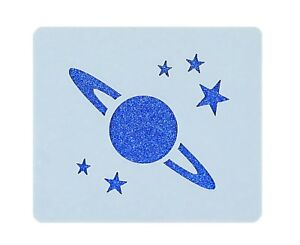 Planet Stars Face Painting Crafting Card Making Art Stencil 7cm x 6cm Reusable