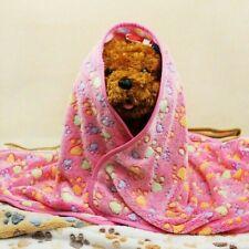 Warm Pet Blanket Dog Cat Soft Coral Fleece Paw Printed Bed Mat NR9