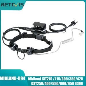 Taktisches Kehlkopfmikrofon Headset für Midland LXT210 /310/420 GXT325/400/650