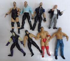 """VINTAGE LOT OF 8 WWE ACTION FIGURES WRESTLING 7"""" (9784-1 A) #12"""