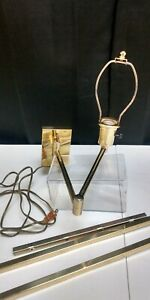 Brass Wall Mount Swing Arm Lamp / Reading Light - Tested