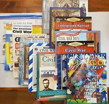 New ListingCivil War Elementary + Middle School Teaching Activity Books + Jingo Bingo Lot
