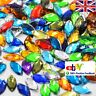 50 Beads Mixed Marquise Faceted Acrylic Gems 7x15mm Flatback 2 Hole Sew On #1