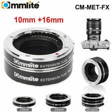 Commlite CM-MET-FX Macro Extension Tube Ring TTL Exposure For Fuji X Mount Cam