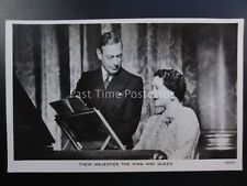Royalty THEIR MAJESTIES KING GEORGE Vl & QUEEN AT PIANO by Baron - Raphael Tuck