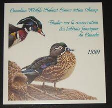 CANADA WILDLIFE HABITAT CONSERVATION 1990