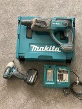 Makita 18v SDS Hammer Drill BHR202 3ah Battery Impact Driver Charger Makpac 2