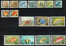 TANZANIA STAMPS- Fishes, set of 16, 1967  FU #