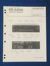 KENWOOD KR-A4040 RECEIVER SERVICE MANUAL ORIGINAL FACTORY ISSUE GOOD CONDITION