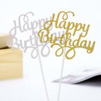 Glitter Paper Cake Topper Cupcake Dessert Topper Birthday Party Decoration D8R9