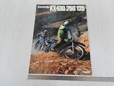 BROCHURE ORIGINALE KAWASAKI KX 400 250 125 MOTOCROSS CROSS DEPLIANT PROSPEKT