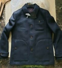 BNWT mens Ted Baker Osmond Patch Collared Overcoat jacket size 4 uk L RRP £329