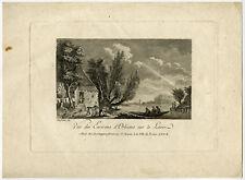 Antique Print-LANDSCAPE-LOIRE-ORLEANS-Desfriches-ca. 1770